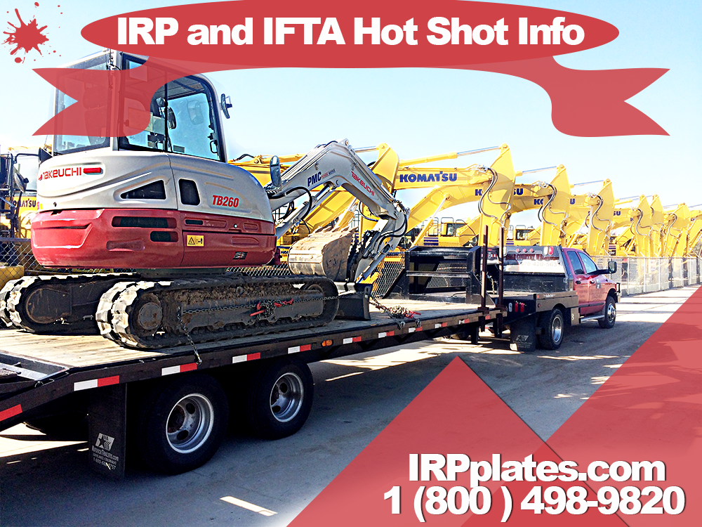 Hot Shot Trucking company IRP plates | (800) 498-9820